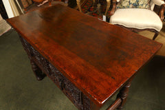 Carved Walnut Spanish Table