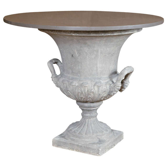 Urn Form Outdoor Table