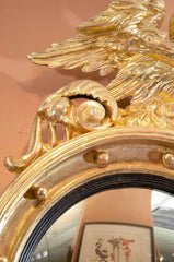Regency Convex Mirror with Eagle Crest