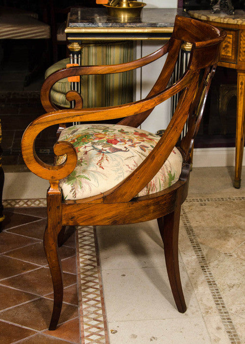 Pair of Fruitwood Fauteuils