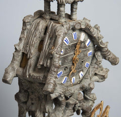 Bronze Tropical Theme French Clock