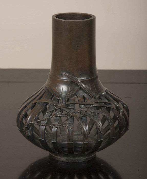 Japanese Meiji Period Bronze Vase Avery Dash Collections