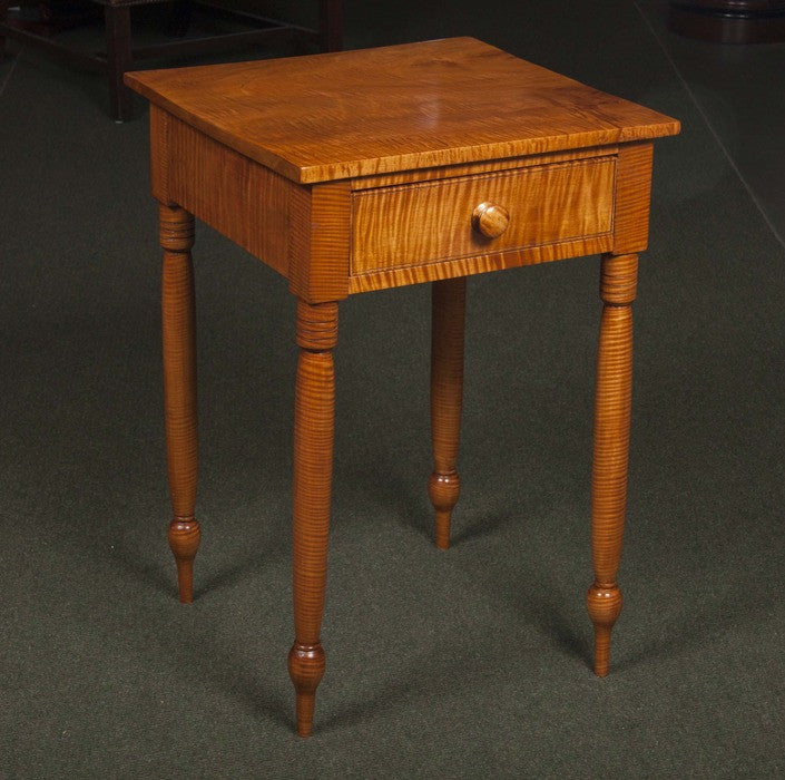An American Tiger Maple Side Table