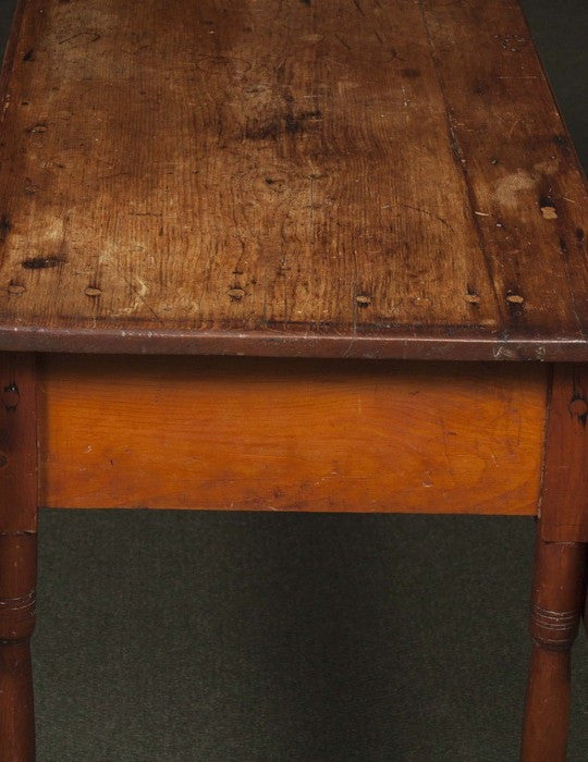An American Stained Pine Drop Leaf Table