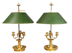 Pair of French Bouillotte Lamps