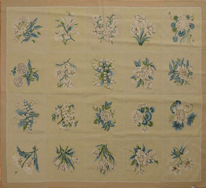 Needlework Floral Tile Carpet