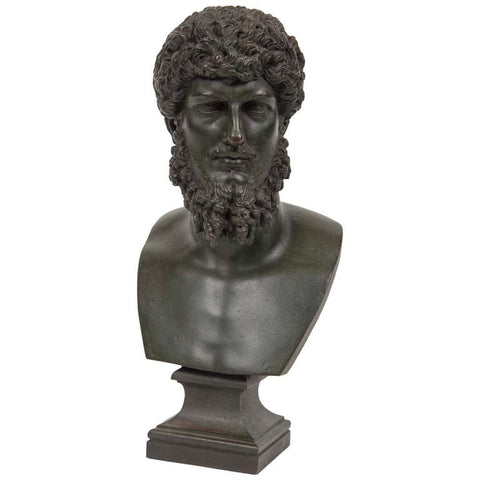 19th Century Grand Tour Patinated Bronze Bust of Lucius Verus