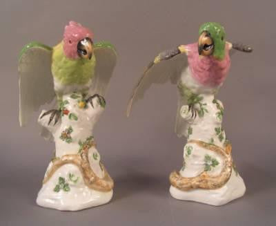 Paris Porcelain Parrots