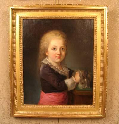 French 18th Century Portrait of a Child