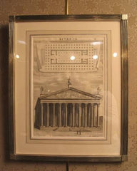 18th Century Engraving of a Greek Temple