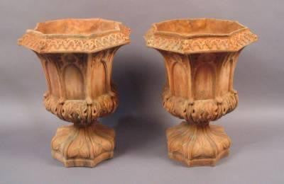 Pair Gothic Style Planters