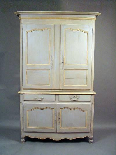 French Painted Linen Press