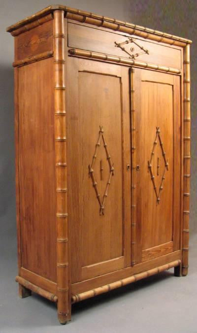 Faux Bamboo Armoire.