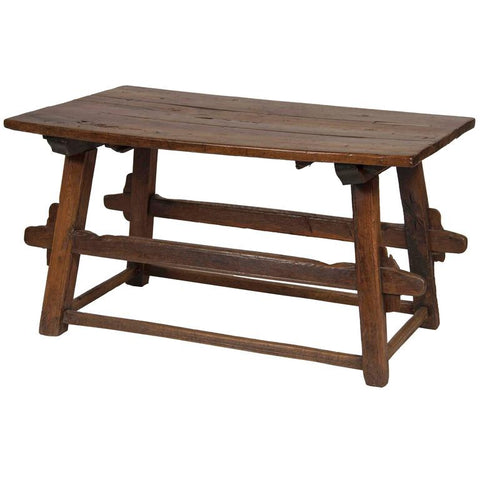 Continental Oak Trestle Table