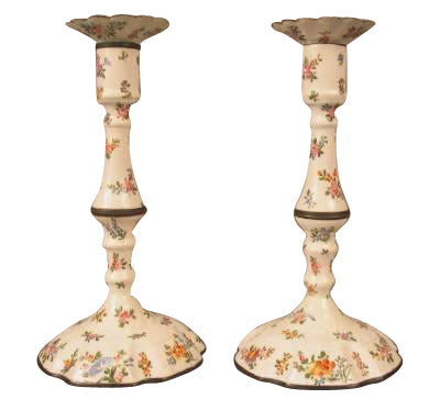 Pair of Battersea Candlesticks