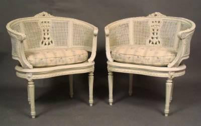 French Settee and Chairs