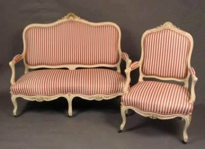 French Settee and Two Armchairs