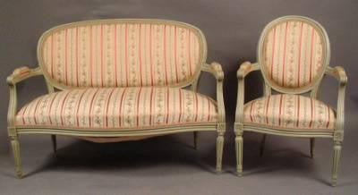 French Settee and 4 Chairs