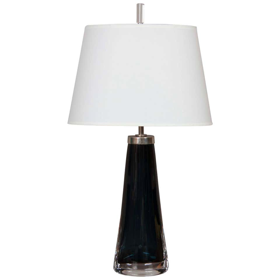 Nils Landberg Table Lamp for Orrefors