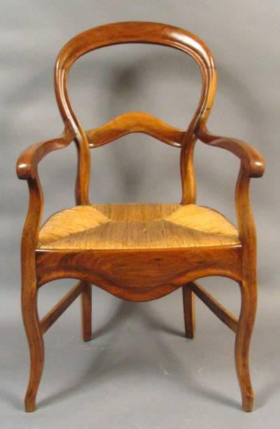 French Rush Seated Chair