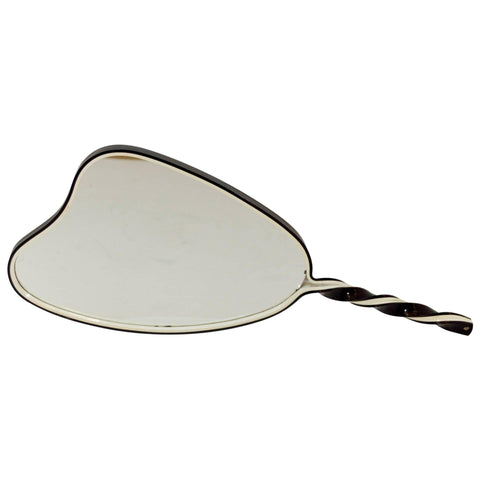 Organic Shaped Black and White Hand Mirror
