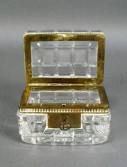 Crystal and Bronze Box