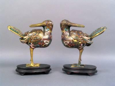 Pair of Chinese Incense Burners
