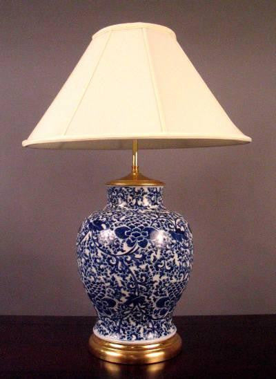 Blue and White Vase Mounted as a Lamp