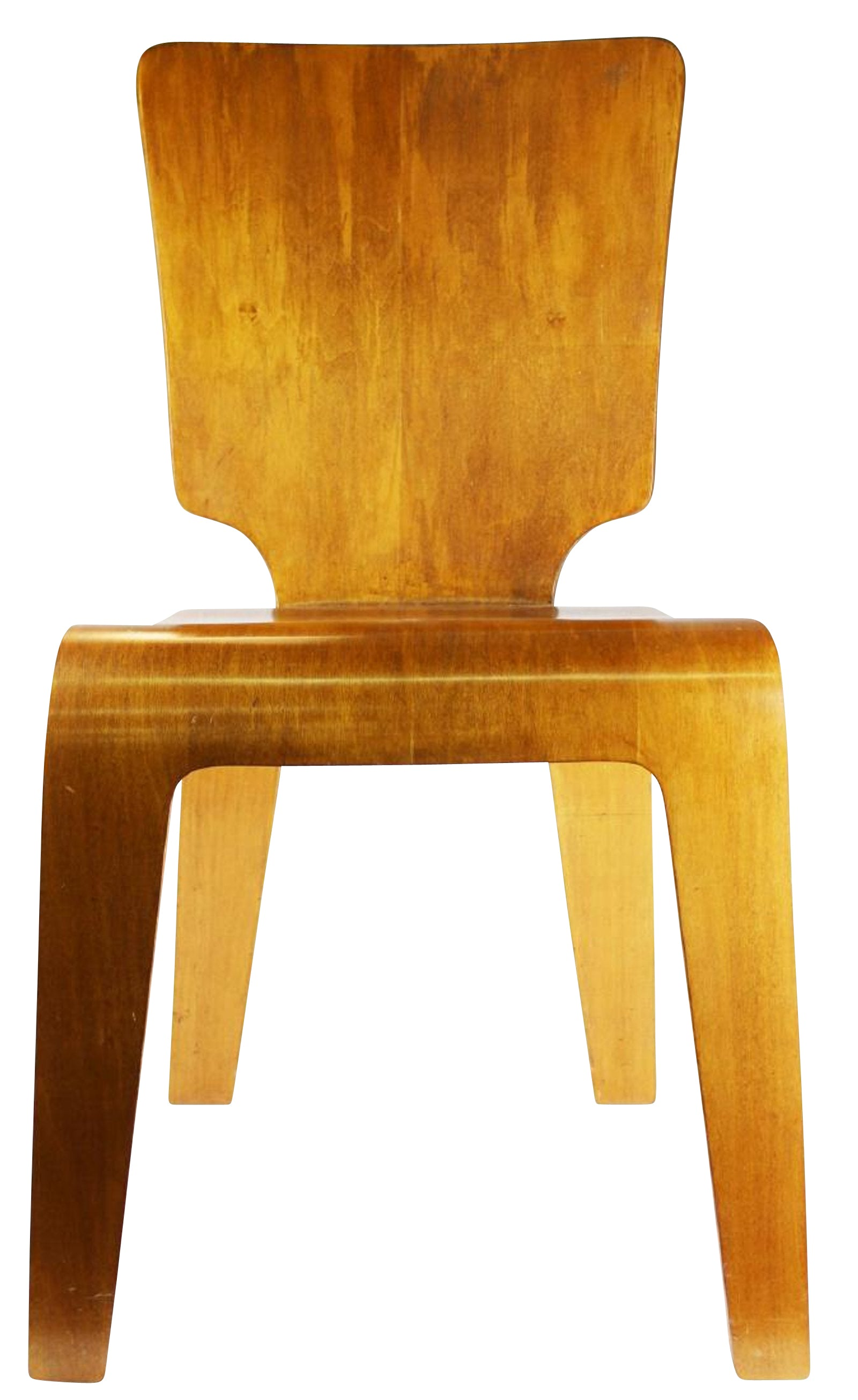 Herbert Von Thaden Bent Plywood Chair   Model 102 1