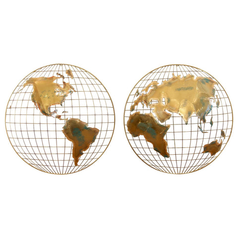 Globe Wall Hangings by Curtis Jere