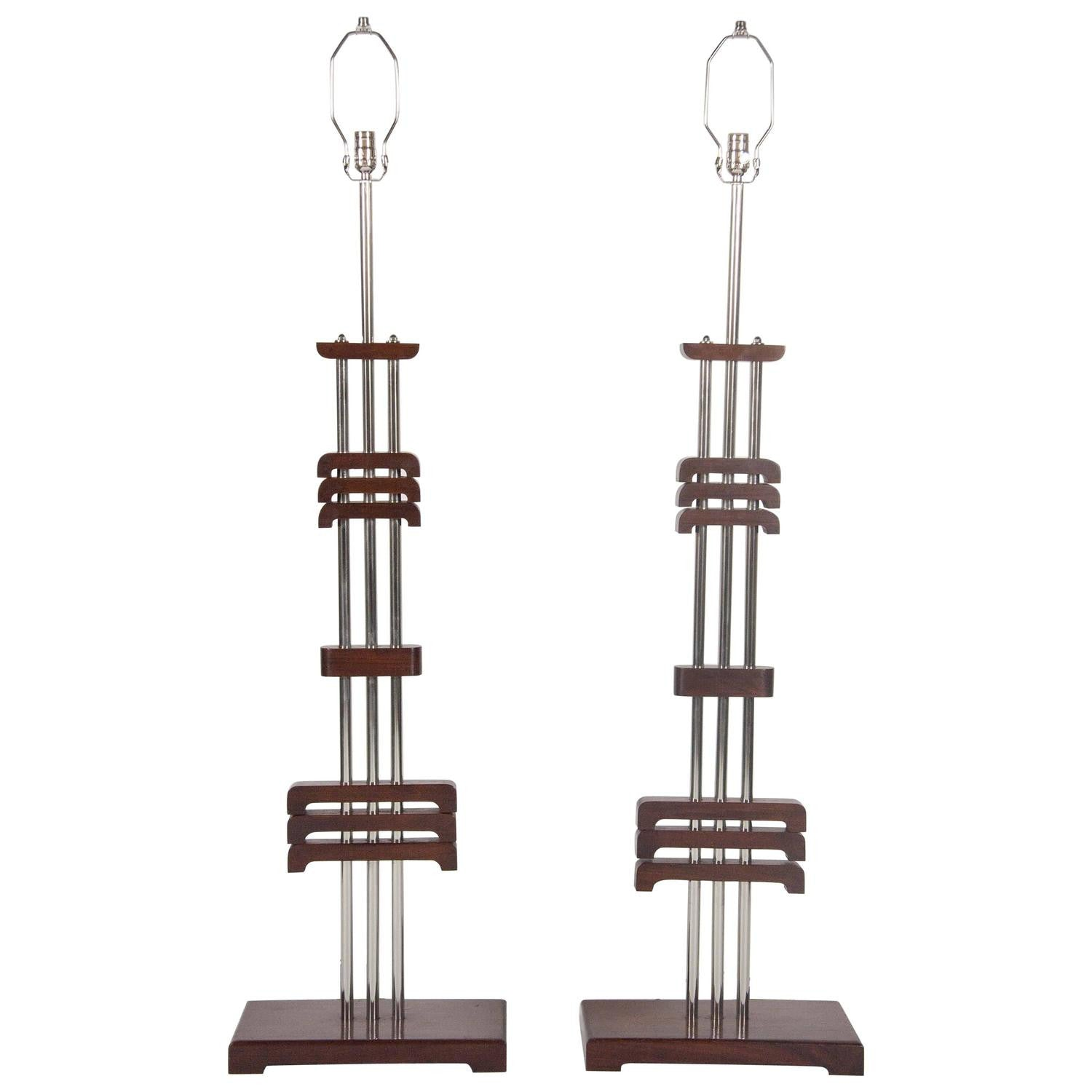 Pair of Art Deco Floor Lamps in the Manner of Donald Deskey – Avery
