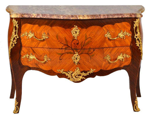 Fine Marquetry and Ormulu Mounted Louis XV Commode