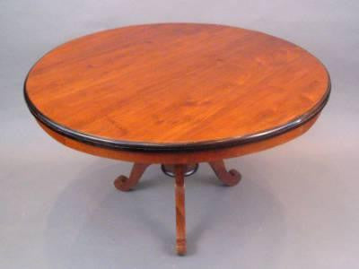 French Biedermeier Round Table