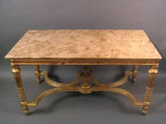 French Gilt Base Table