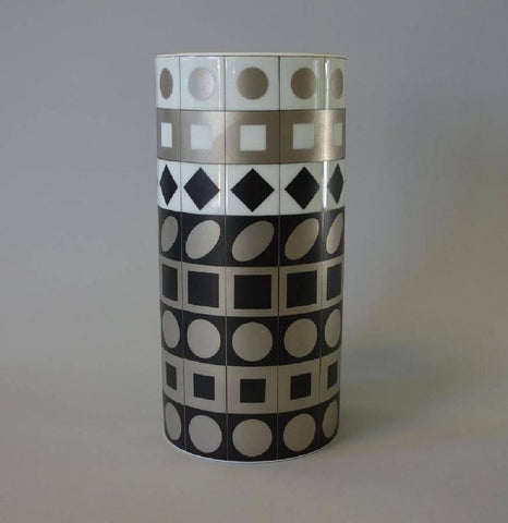 Victor Vasarely Rosenthal Vase Circa 1970