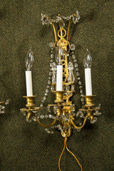 Pair of Bronze D'ore Bagues Sconces