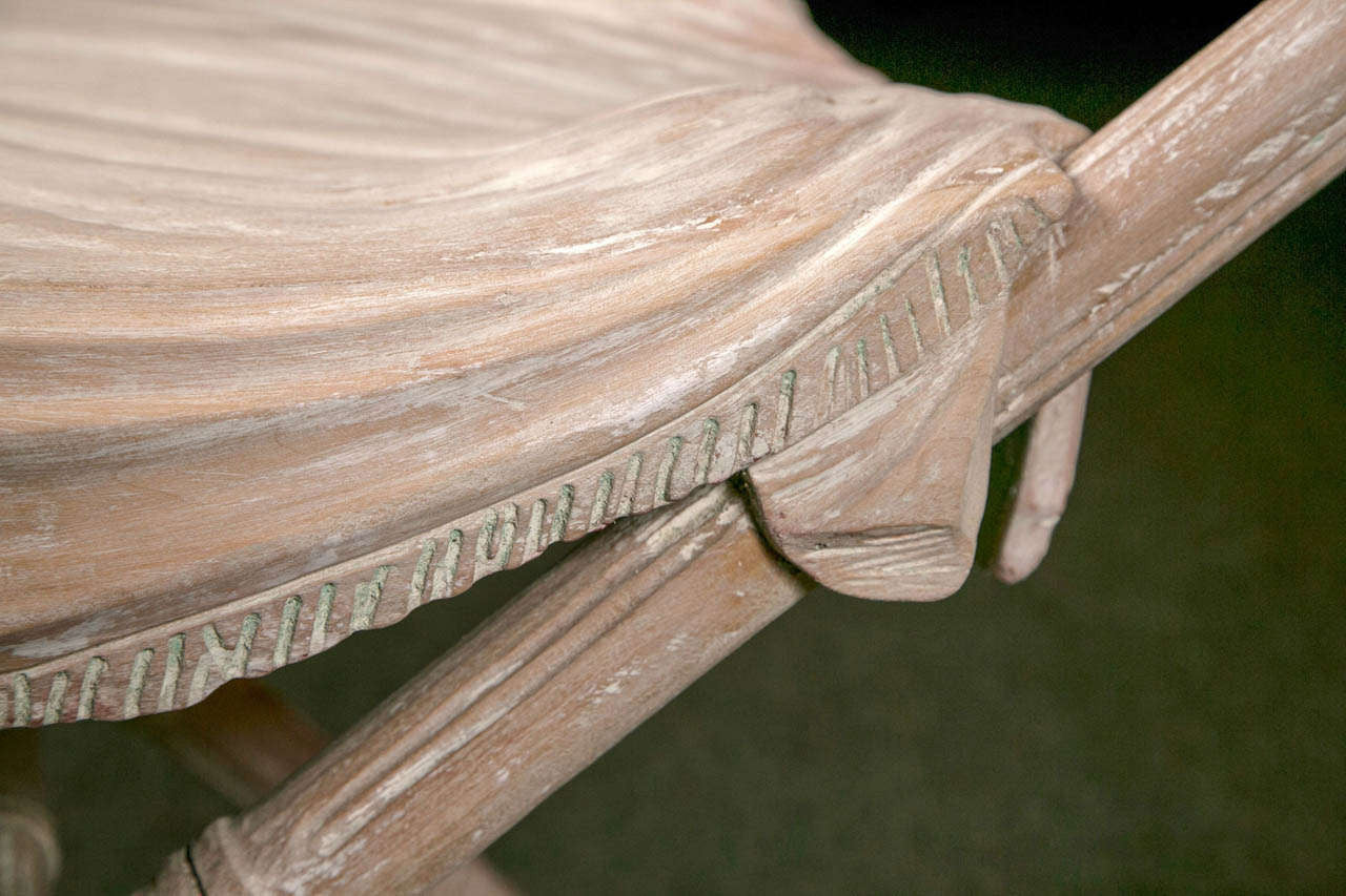 Faux Bamboo Carved Stool
