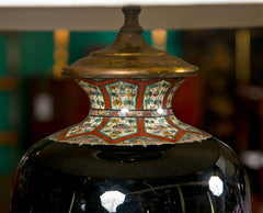 Pair of Japanese Cloisonne Lamps