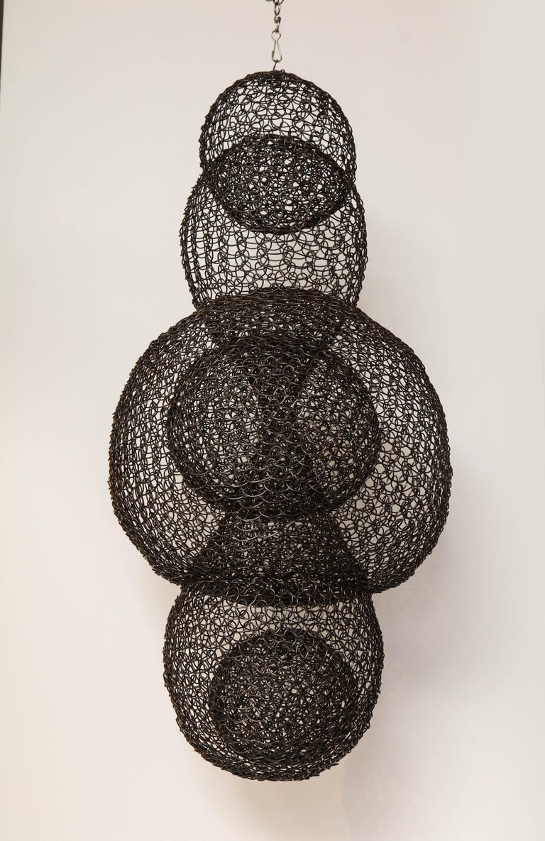 Organic Woven Mesh Wire Sculpture by Ulrikk Dufosse, France, 2017