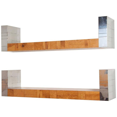 Pair of Paul Evans Cityscape Bookshelves