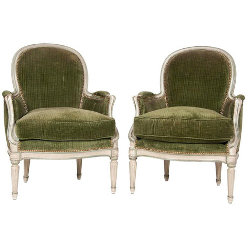 Louis XVI Style Armchairs Attributed to Jansen