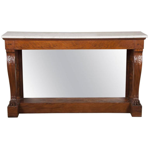 French Marble Top Console by Jacob