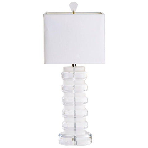Mid-Century Heavy Lucite Lamp Attributed to Karl Springer