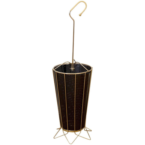 Mid-Century Metal Umbrella Stand with Perforated Liner