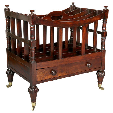 Late Regency Mahogany Canterbury