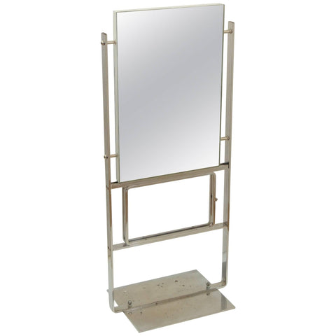Unusual and Large Double-Sided Deco Display Mirror