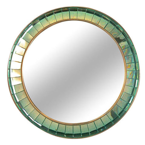 Hand-Cut Crystal Glass Mirror by Ghiro Italy 2014