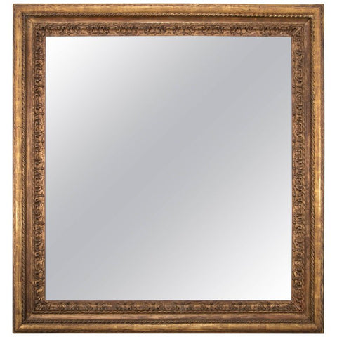 Italian Giltwood Mirror Frame, Large-Scale