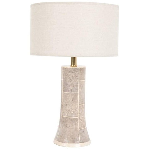 Karl Springer Faux Shagreen Lamp with Bone Inlay