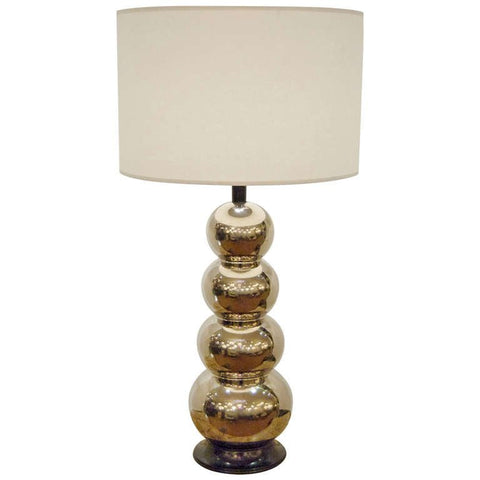 Glaze Ceramic Stacked Ball Table Lamp in the Style of George Kovacs